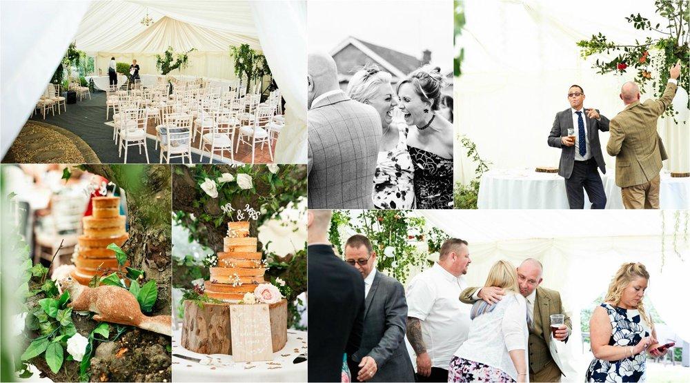 Weddings in home garden