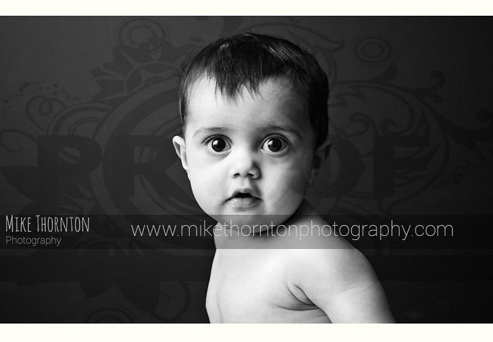 black and white artistsic baby photography