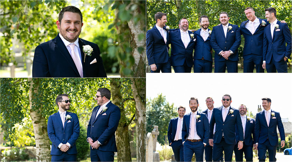 Groom and groomsmen wedding photography cambridge