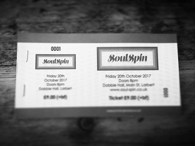 Physical tickets for SoulSpin are available now from Noise Noise Noise on Vicar Street, Falkirk! Price only £9 with no booking fees! Date of event is 20th October at Dobbie Hall, Larbert! #funkandsoul #northernsoul #larbert #stenhousemuir #falkirk