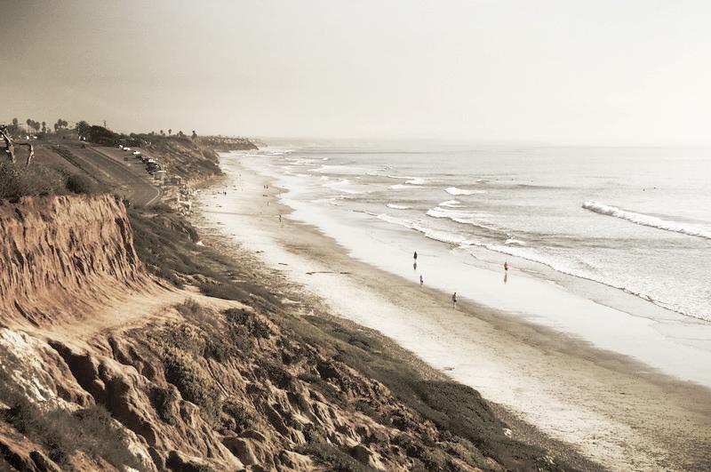 San Diego Beaches, South Carlsbad Beach & Cliffs-L.jpg
