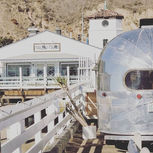 Malibu...a bit bruised right now, but never broken. #malibu #airstream #101 #camping #pacific #malibupier #goexplore #goroam #gooutside #siverbeauty #silverlining #beach #mountains