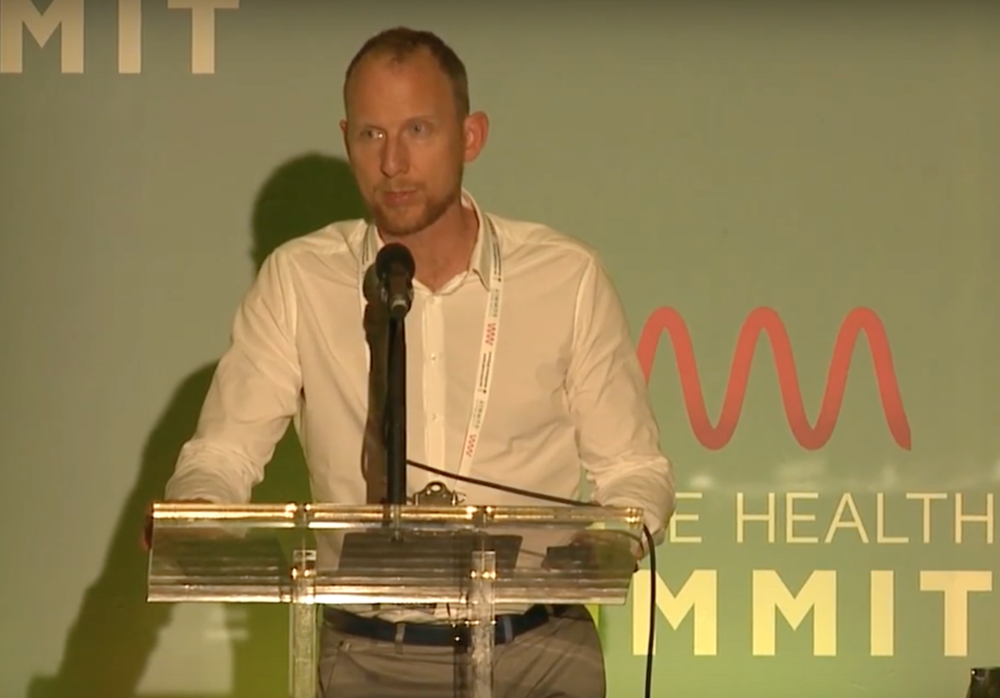 Chris Flack speaking at The Future Health Summit 2017.  Upcoming public speaking events inc;  Web Summit 5-8th November 2018, Lisbon. Stage name and timing tbc.  For more information email hello@unplughq.com