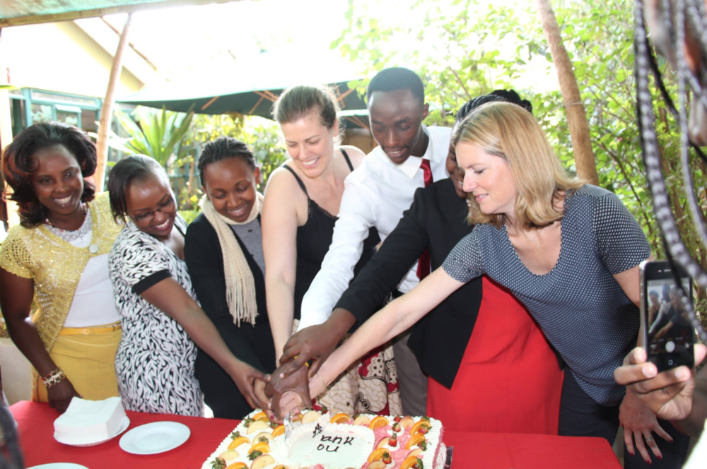 Megan White Mukuria, ZanaAfrica Foundation's Founder & CEO, with partners from across Kenya