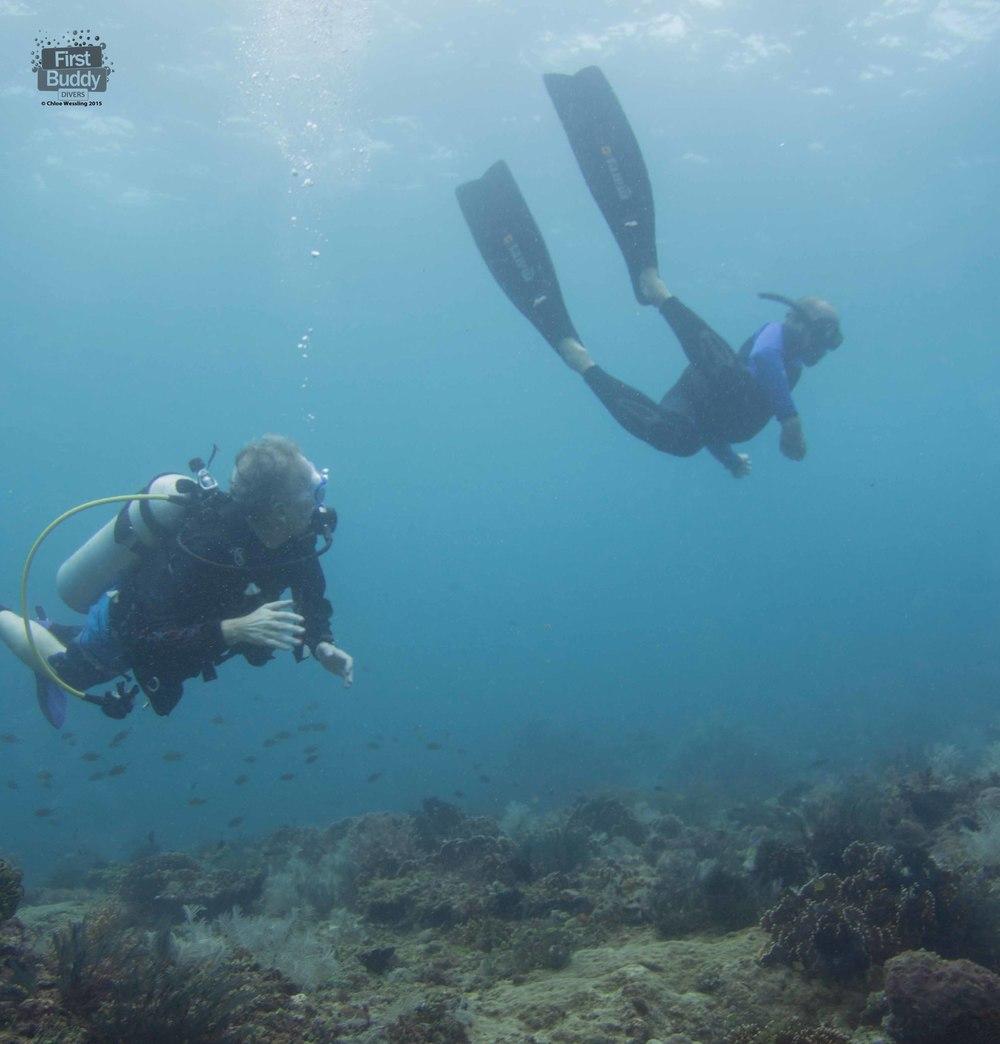 free and scuba diver, Tablas Island