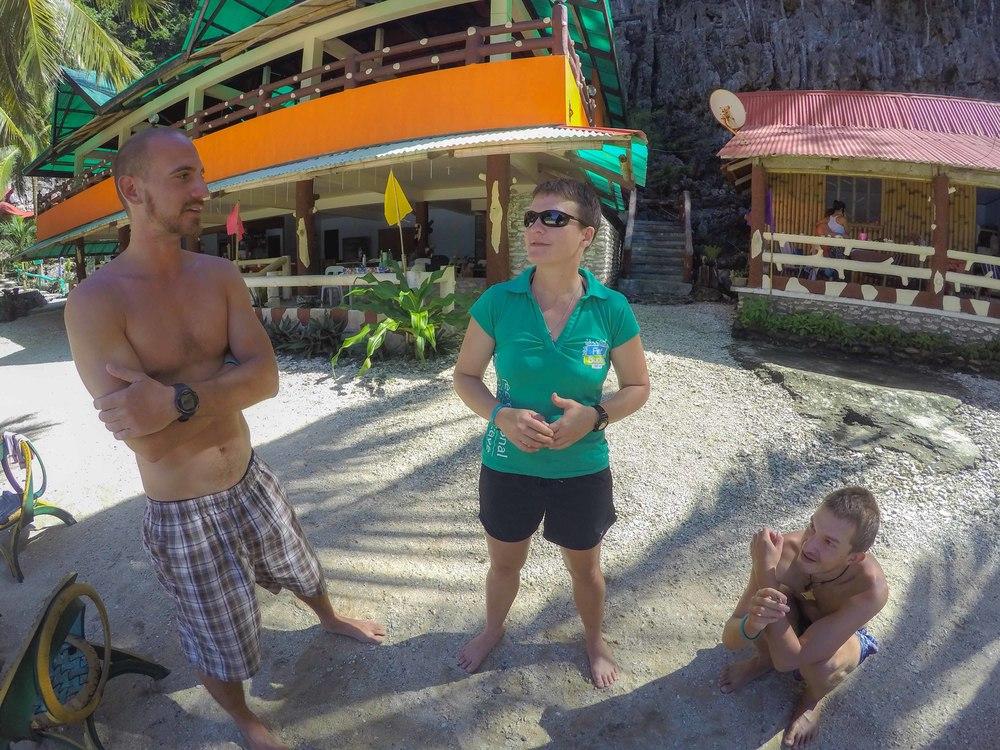 Wil, me and Petr enjoying the magical Paksi Cove Resort
