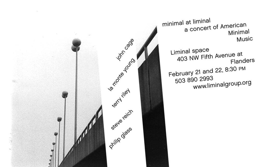 Minimal at Liminal, 2003