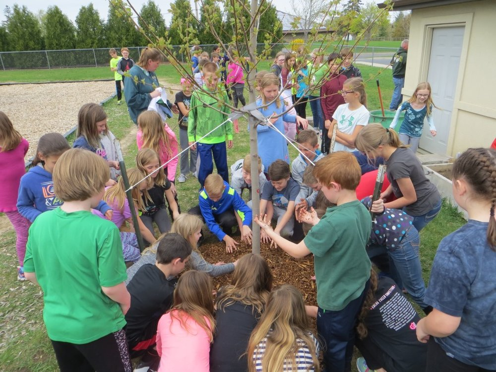 West Bend_tree planting6_circle of hands.JPG