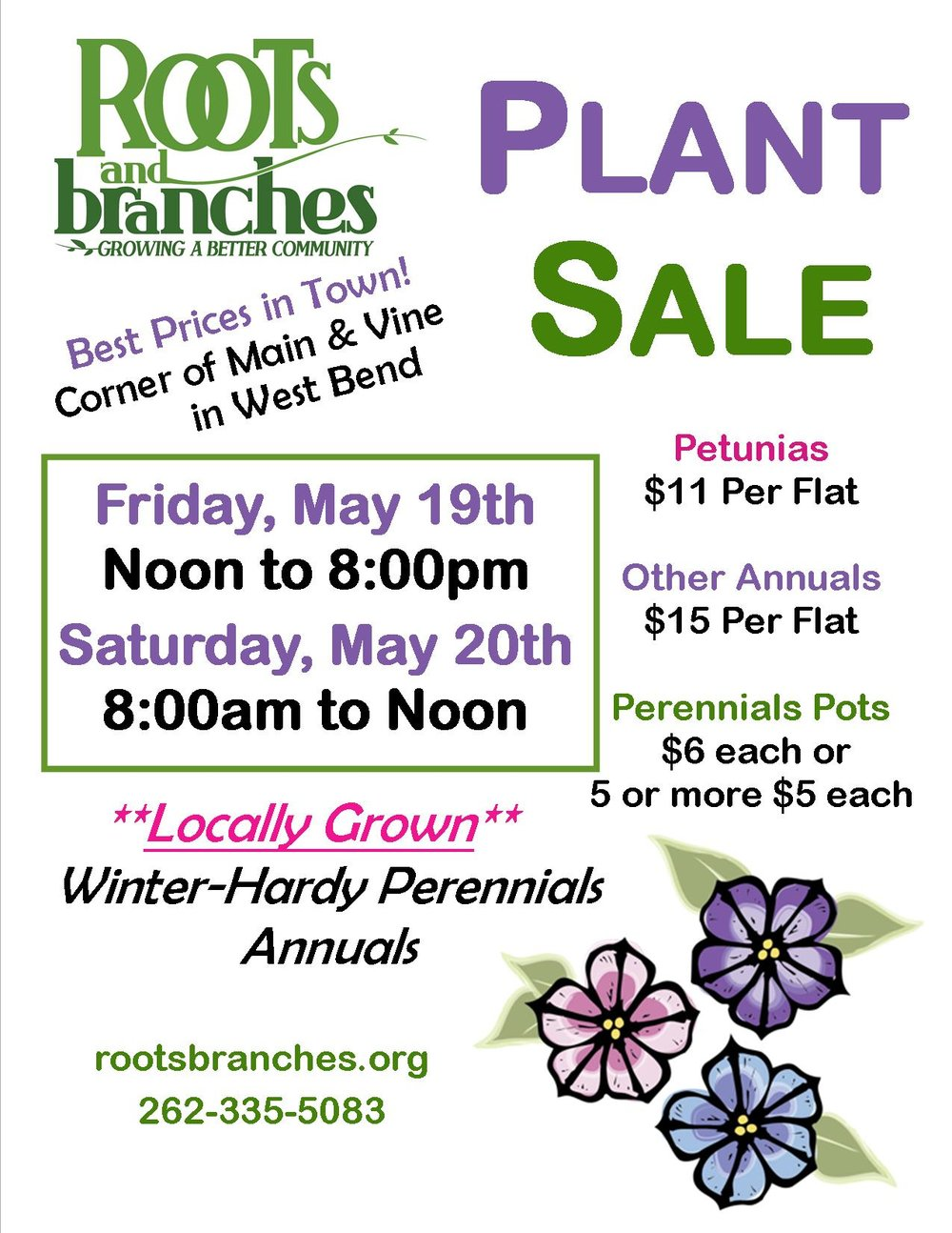 Roots and Branches Plant Sale