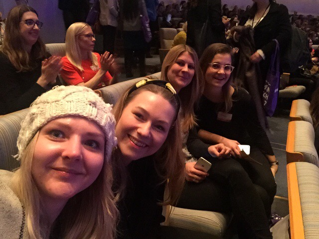 A quick selfie before the conference started. From left: Dovile, Caroline, Karin and Jana