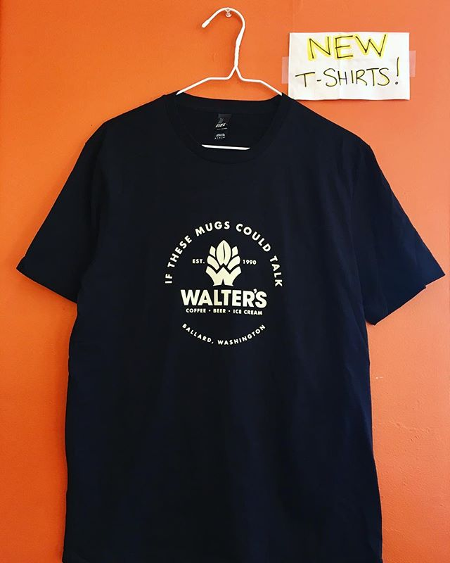We've got new shirts for ya! Come on down to get your Walters T-Shirt-fully restocked with a variety of sizes. $20! Have a happy Sunday everyone.