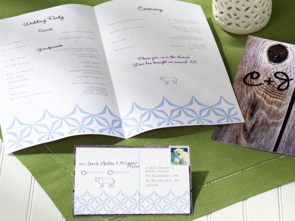 Rustic Wedding Invitation Suite — Barn