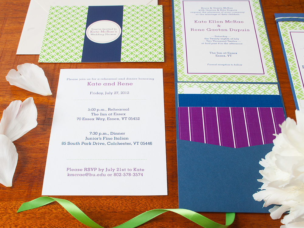Preppy Chic Design Invitation Suite — Garden