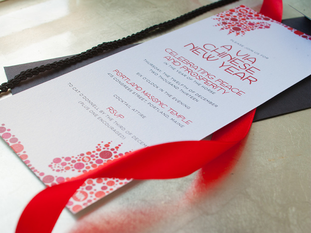 Elegant Holiday Event Invitation — Chinese New Year