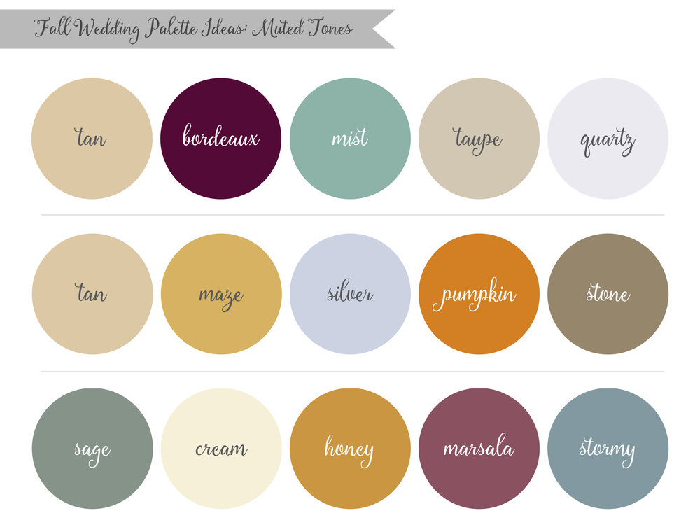 Muted Fall Wedding Palette Ideas