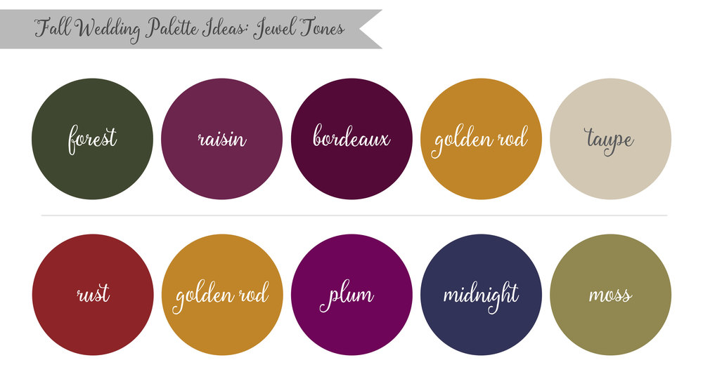 Jewel Tones Fall Wedding Palette Ideas