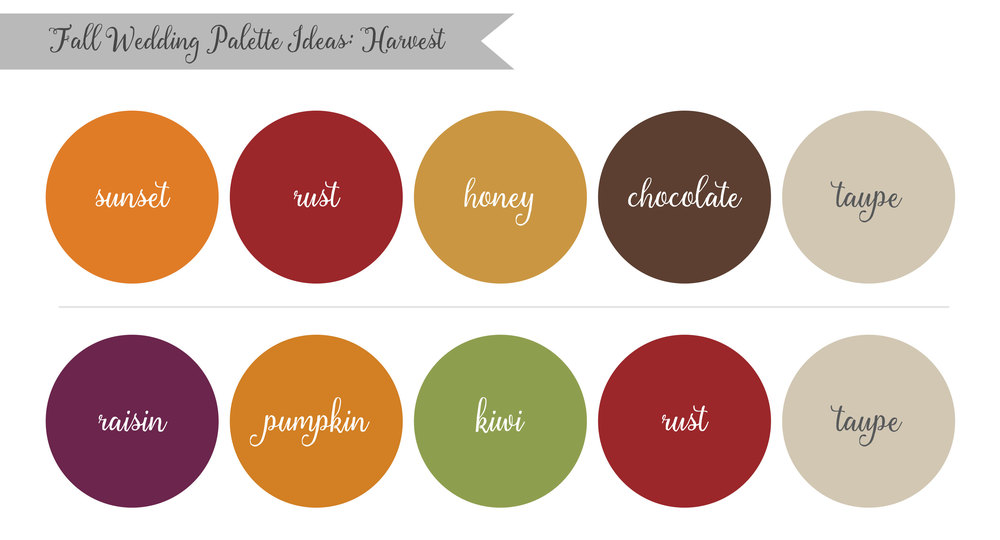 Harvest Fall Wedding Palette Ideas