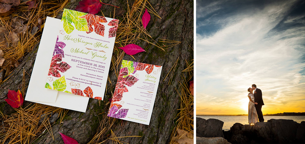 Photo credits:: Invitation photo by  Derek Masten Photography  and Day of Wedding photo by  Libby Neder Photography