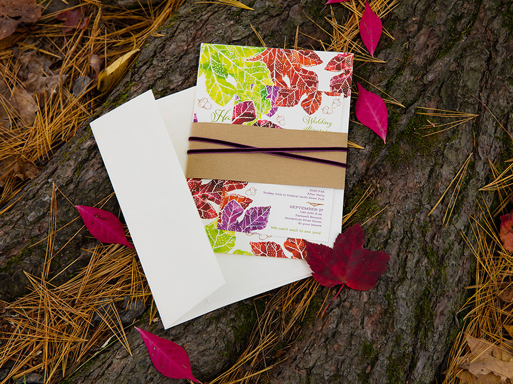Autumn Design Invitation Suite — Maine Seacoast