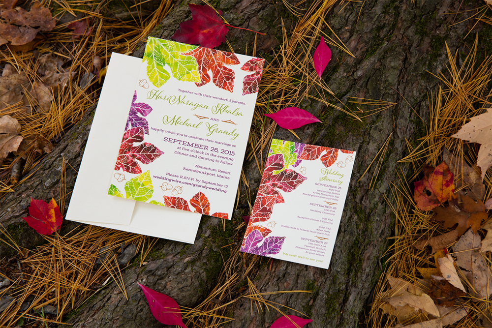 Hari + Mike, September Wedding in Kennebunkport — Invitation Suite