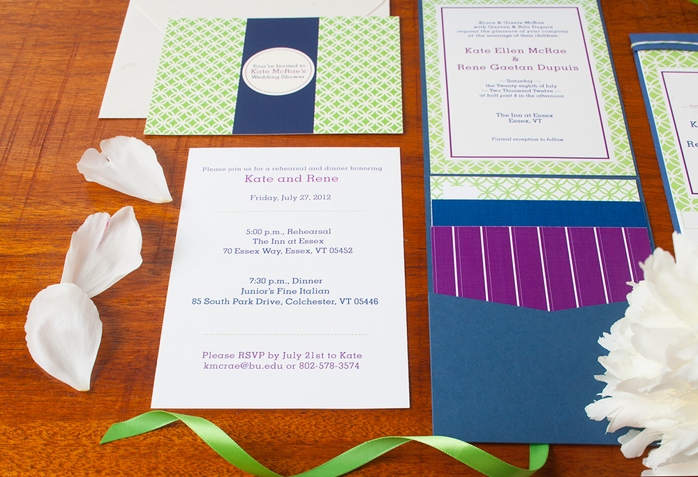 Kate + Rene Summer Garden Wedding — Invitation Suite