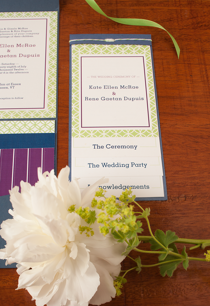 Kate + Rene Summer Garden Wedding — Wedding Program