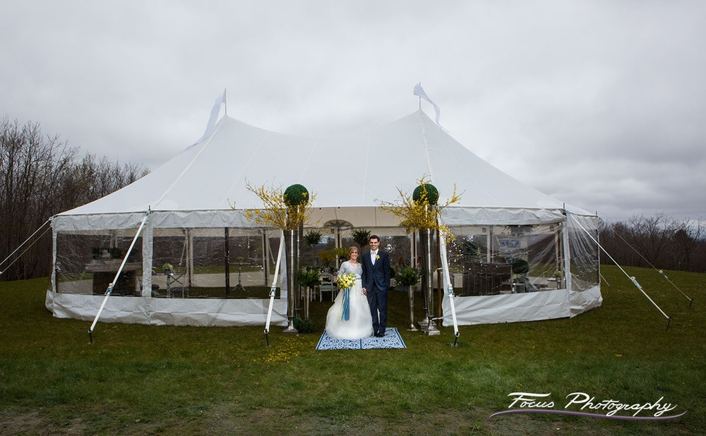 Blue Willow Wedding — Beech Hill Barn Tent Area