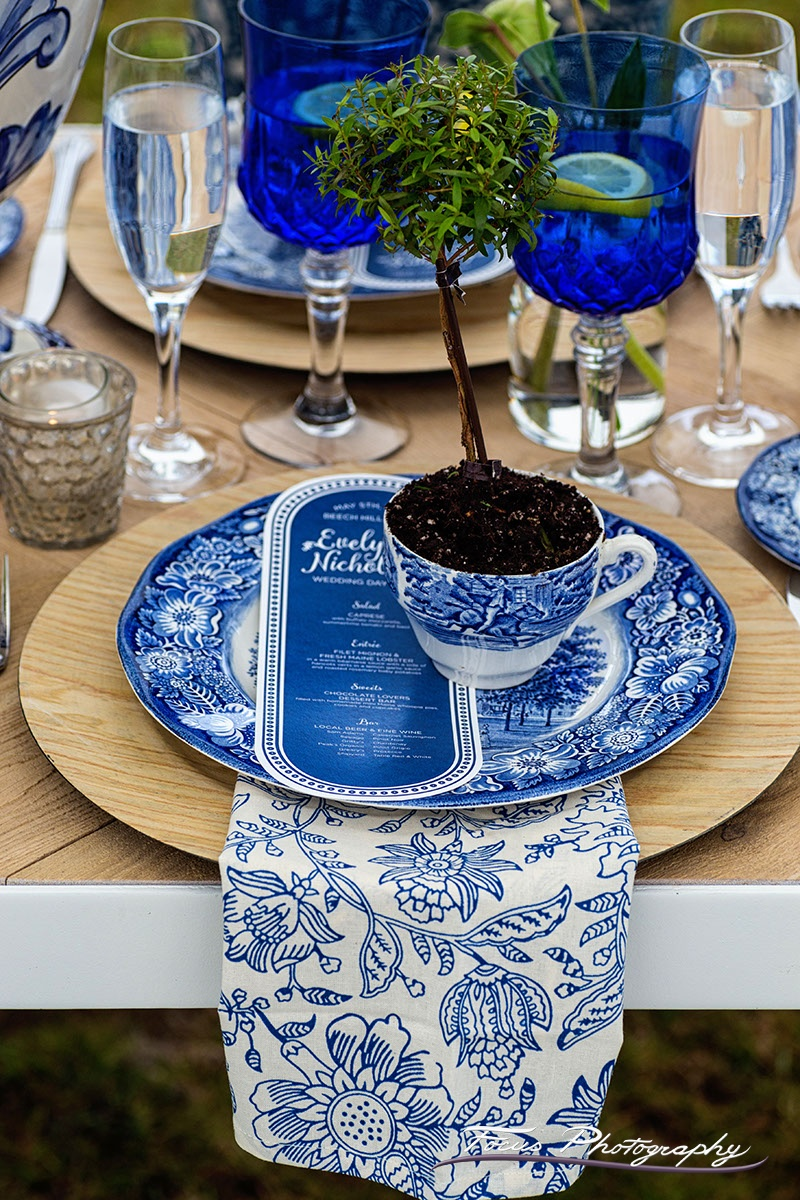 Blue Willow Wedding Custom Menu