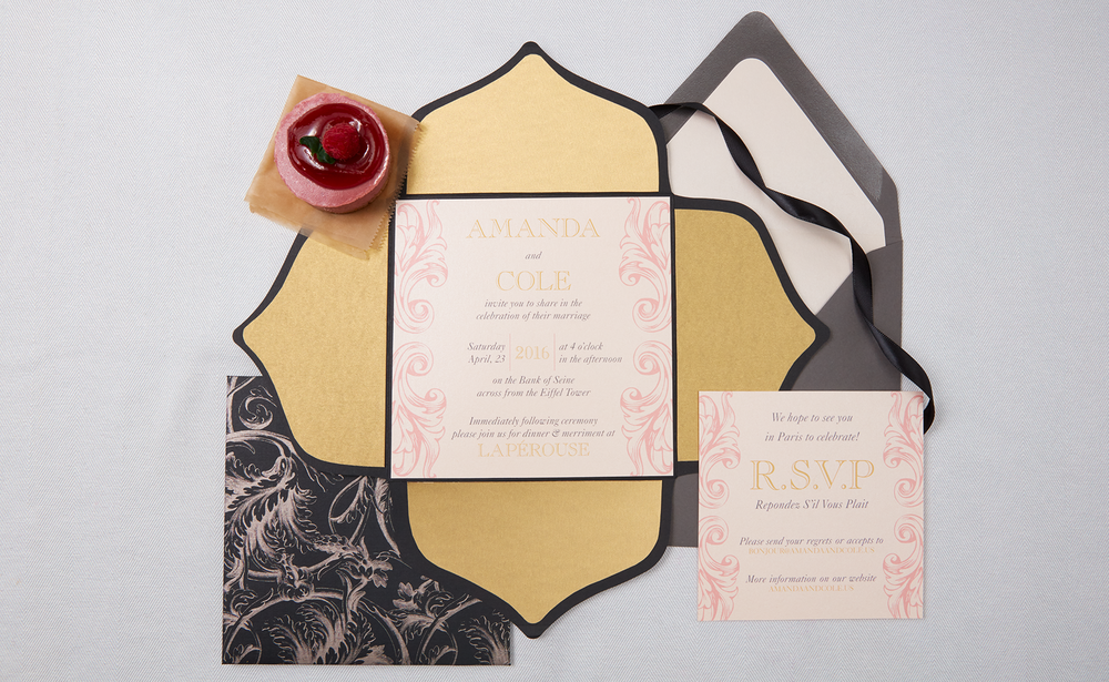 Paris, France in the Spring, Wedding Invitation Suite