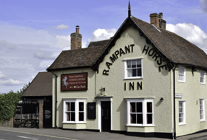 The Rampant Horse. Traditional Suffolk pub.