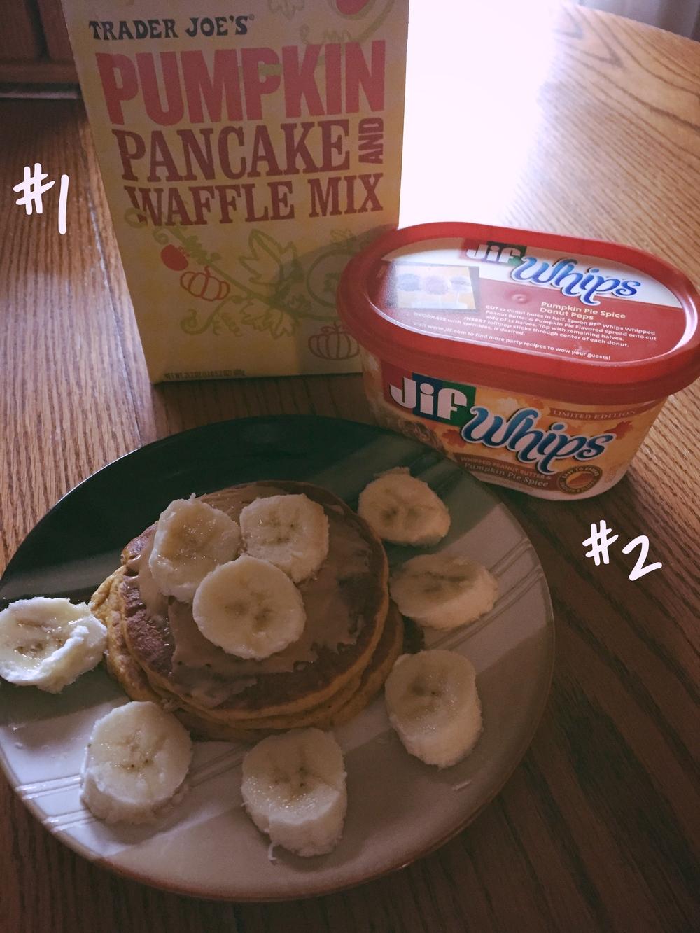 Trader Joe's Pumpkin Pancake & Waffle Mix + JIF Whips Pumpkin Spice Peanut Butter