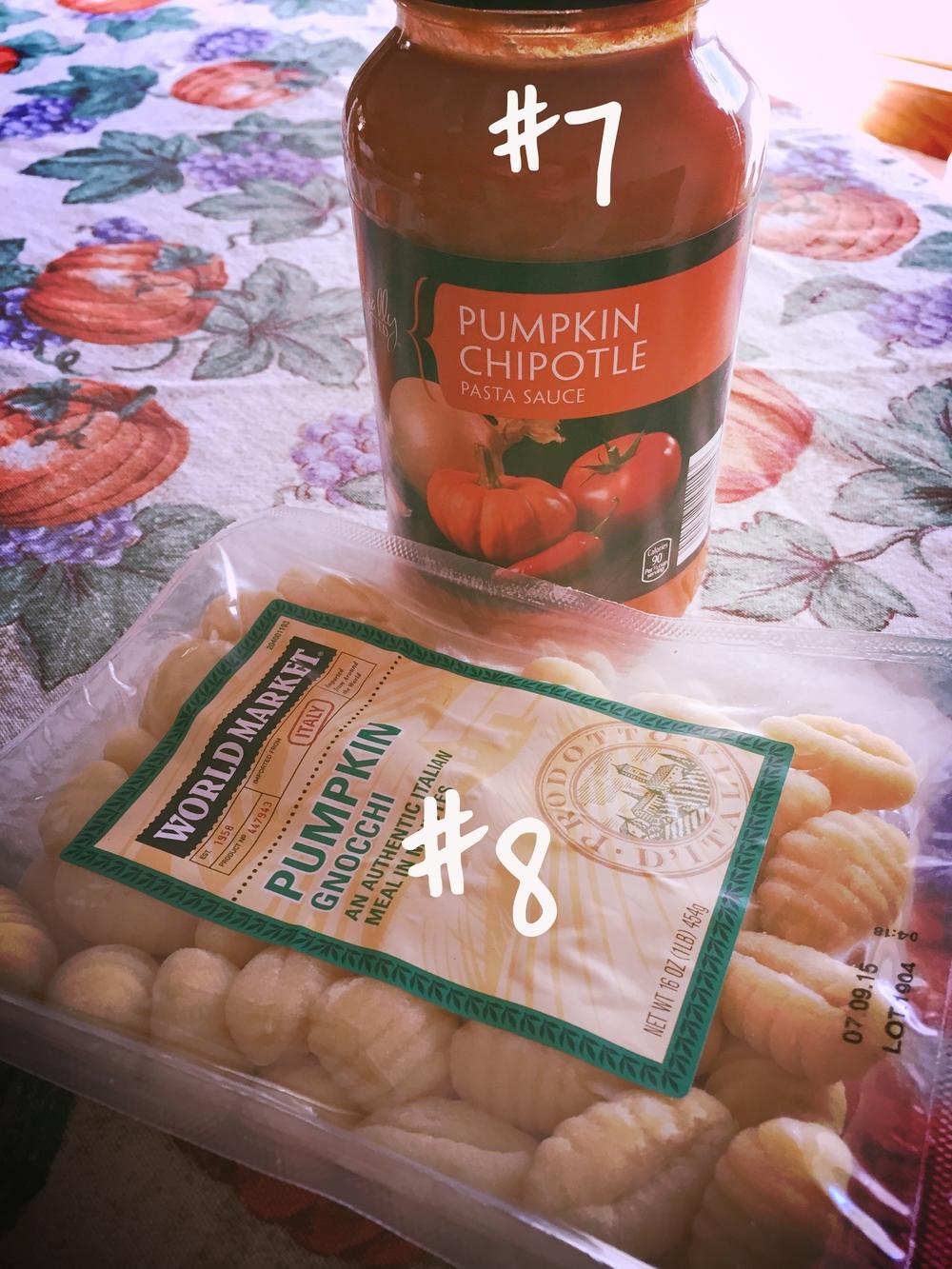 World Market Pumpkin Gnocchi + Aldi Brand Pumpkin Chipotle Sauce