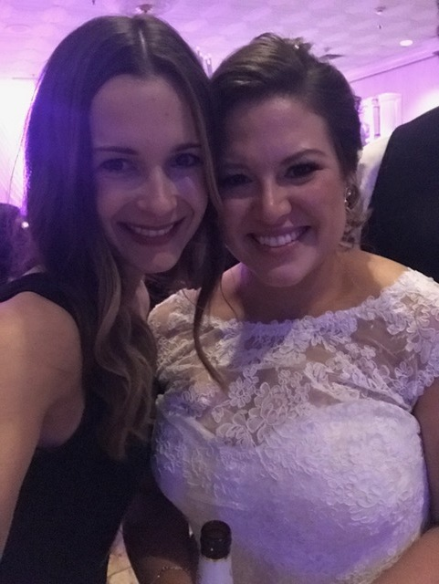 The gorgeous bride, Briana and I!