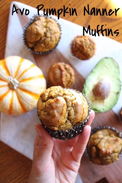 Avo Pumpkin Nanner Muffins