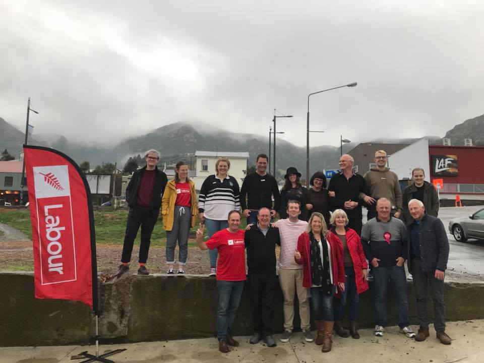Photo before a door knock in the Lyttelton By-election