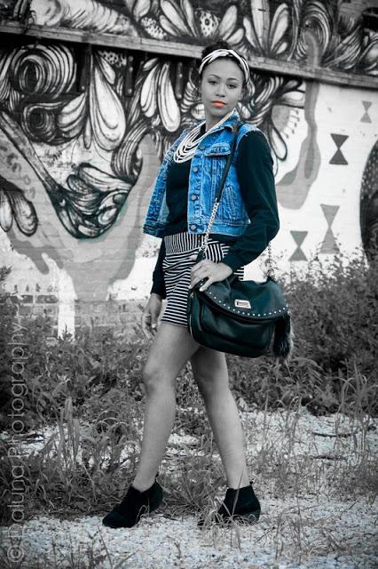 Kansas City model, Destanee, wearing House of Rena in Kansas City