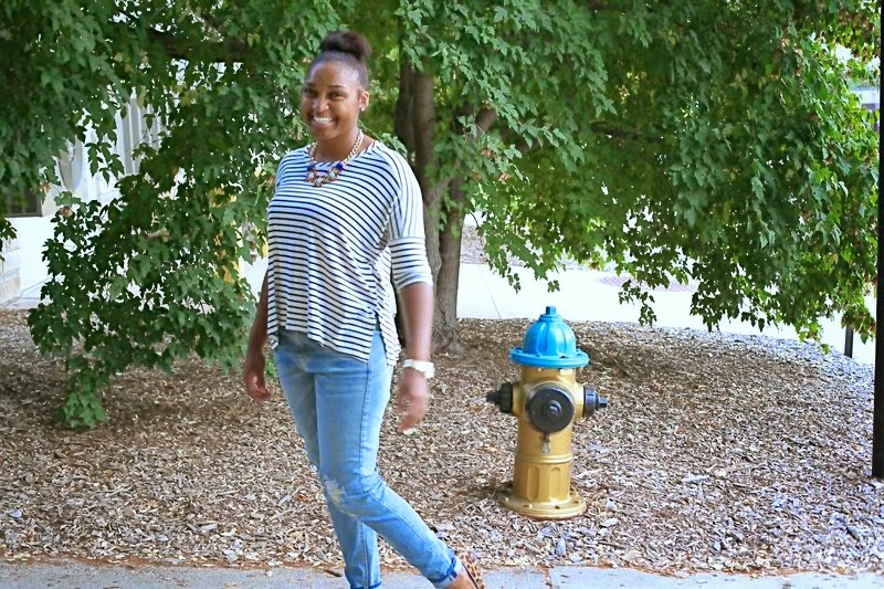 Style: Stripes and Skinny Jeans with JasmineDiane.com