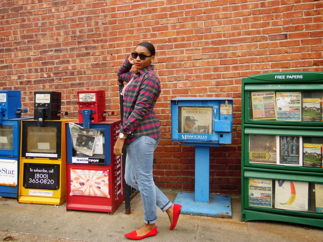 How to Style Red for fall by Jasmine Diane