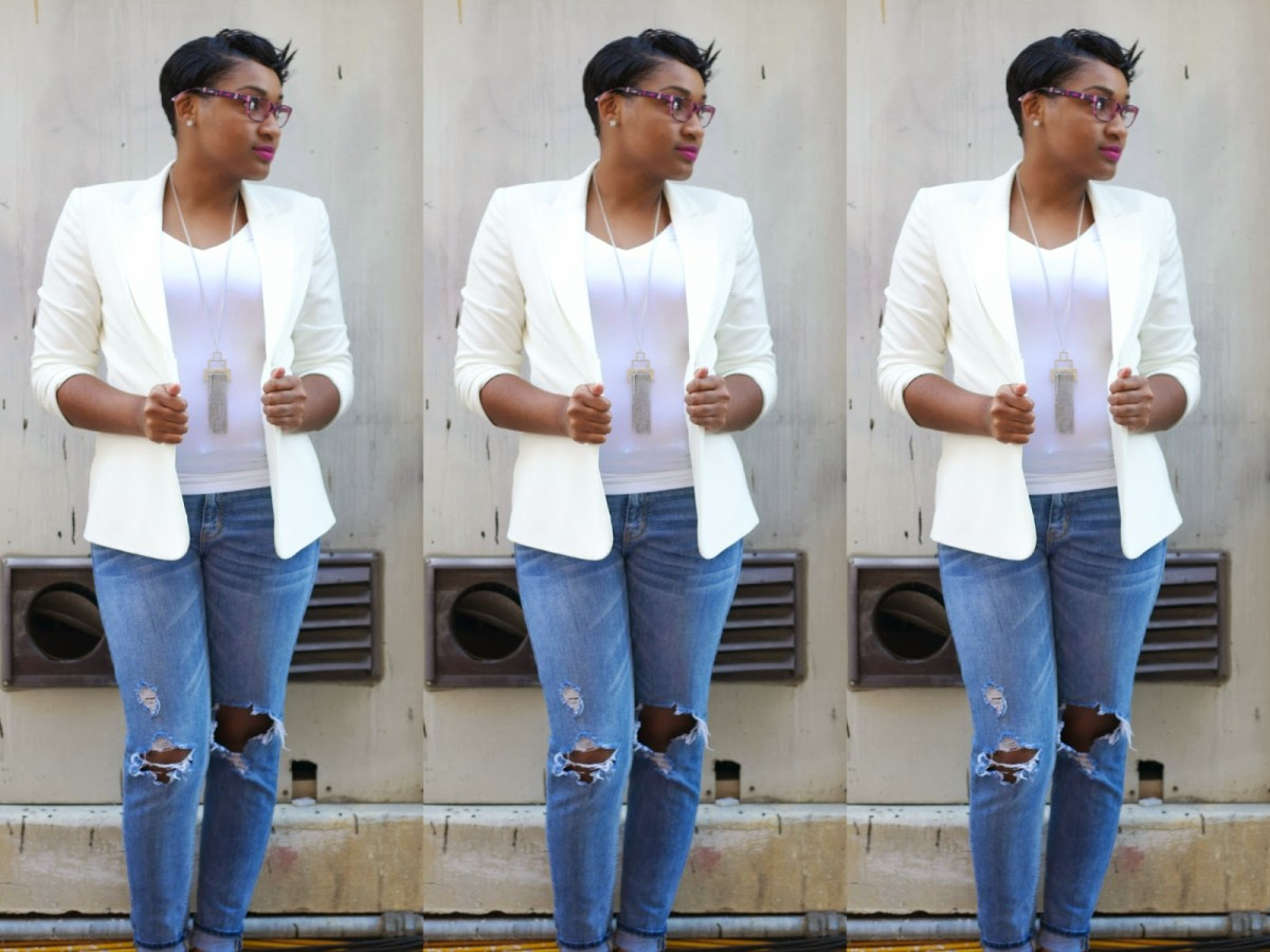 Style Files: Ripped Jeans For Class And Work? Yes Please! by JasmineDiane.com