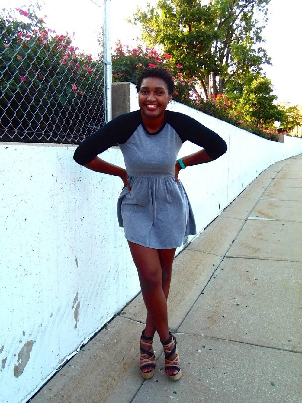 jasmine diane Skater Dress and Wedge Heels