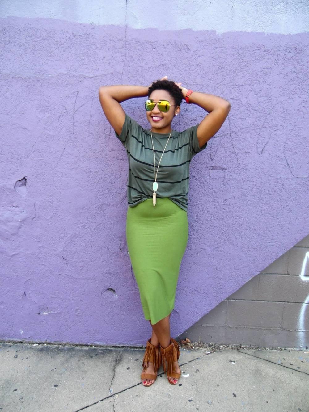 jasmine diane how to wear green