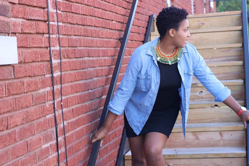 My favorite necklace by Jasmine of JasmineDiane.com. Black fashion bloggers in Kansas City. Bloggers of color.
