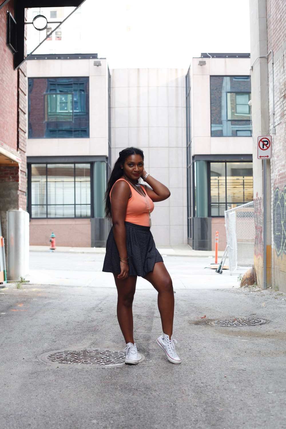 white sneakers + skater skirt + self-love by blogger, jasmine cooper, of jasminediane.com