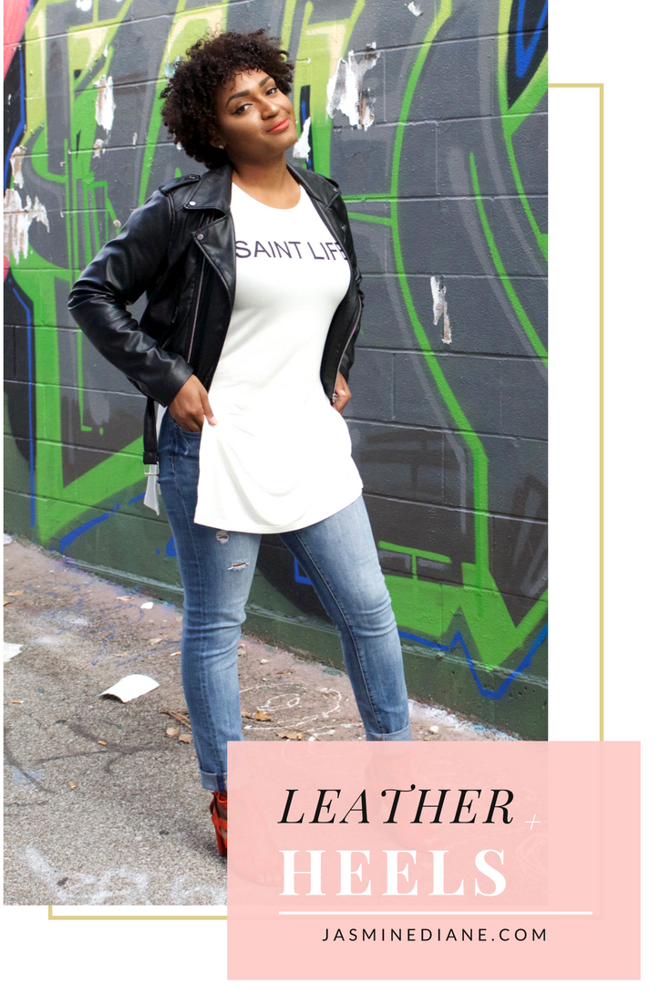 How to style a leather jacket | fall fashion | banana republic
