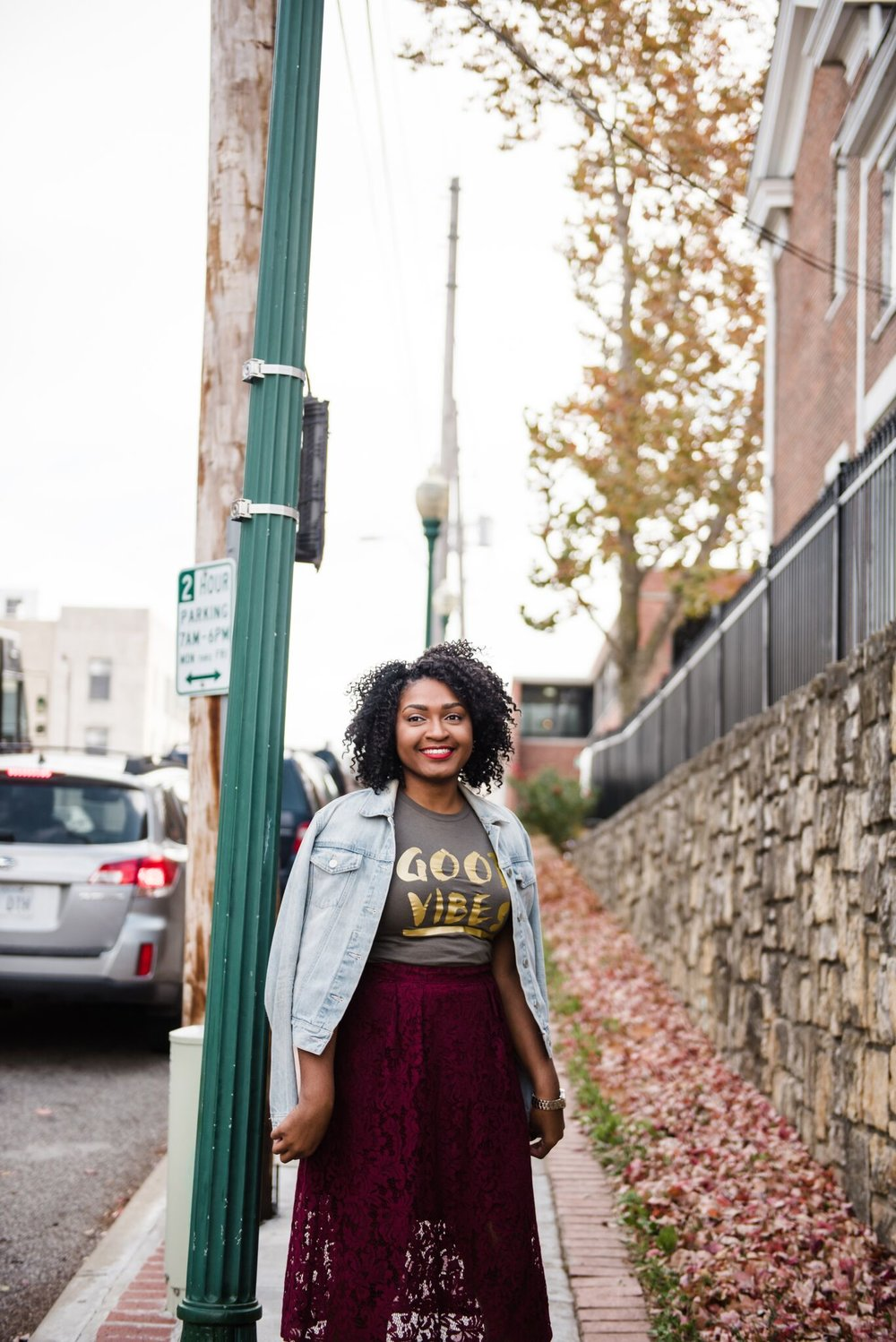 How to Style an Olive Good Vibes Tee by jasmine diane