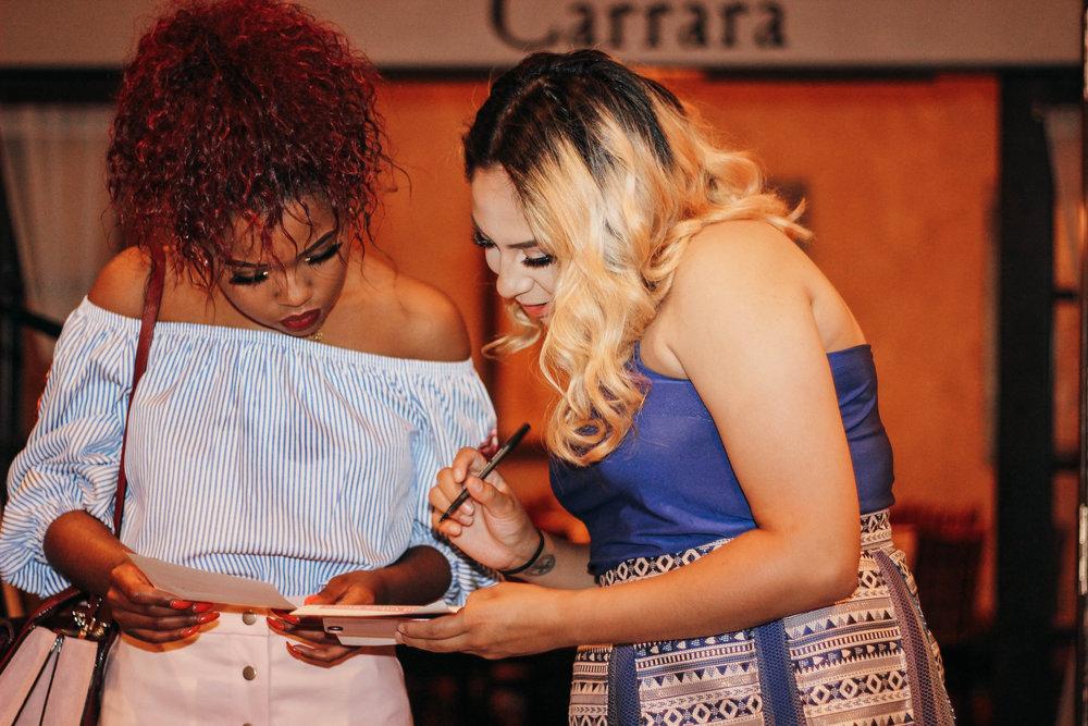 black and hispanic women brunch at jasmine diane event