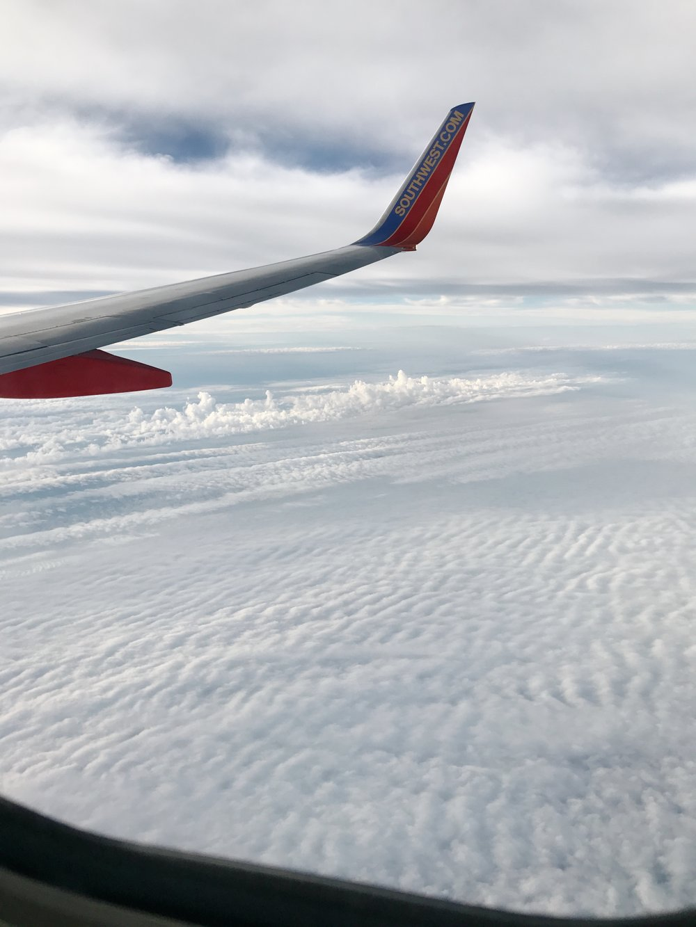 In the clouds