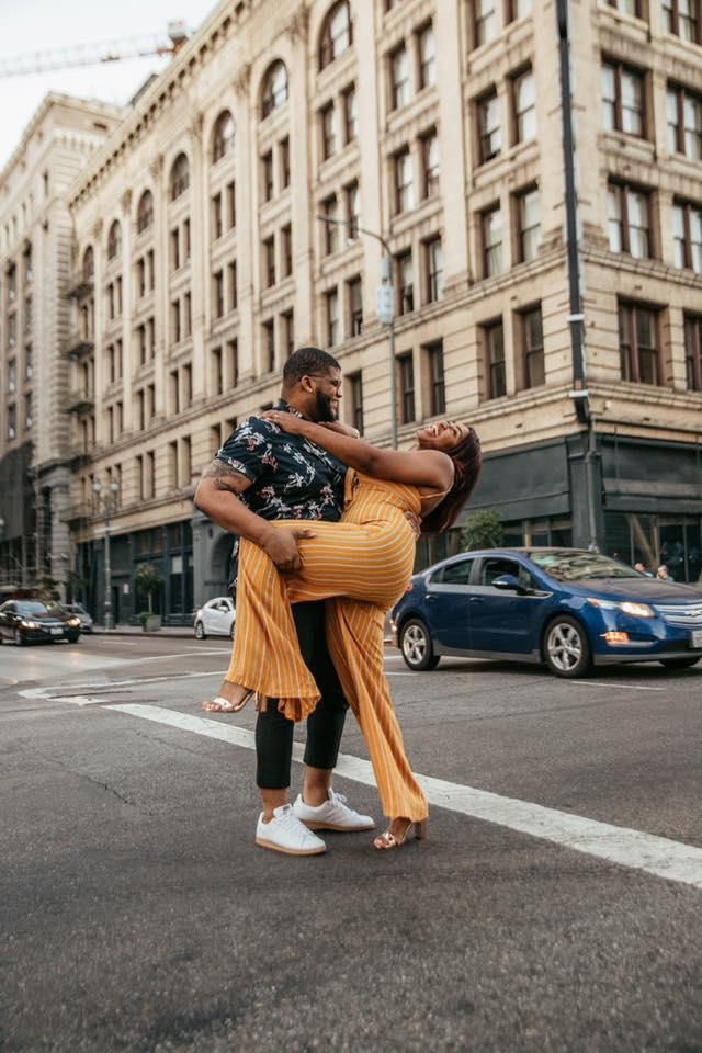 We got engaged! Black love, Jasmine Diane and Steven G.