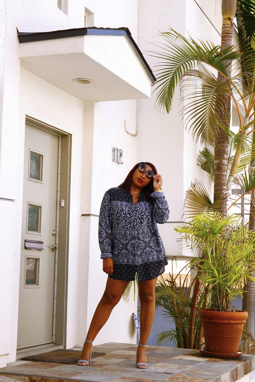 LA fashion blogger, jasmine diane, wearing a bandana shirt.jpg