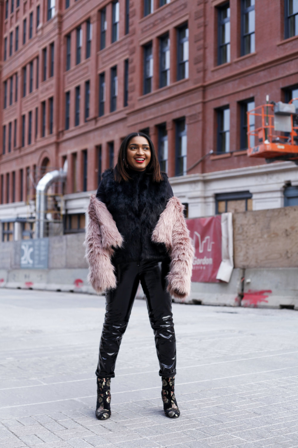 how to wear a fur coat from forever21.
